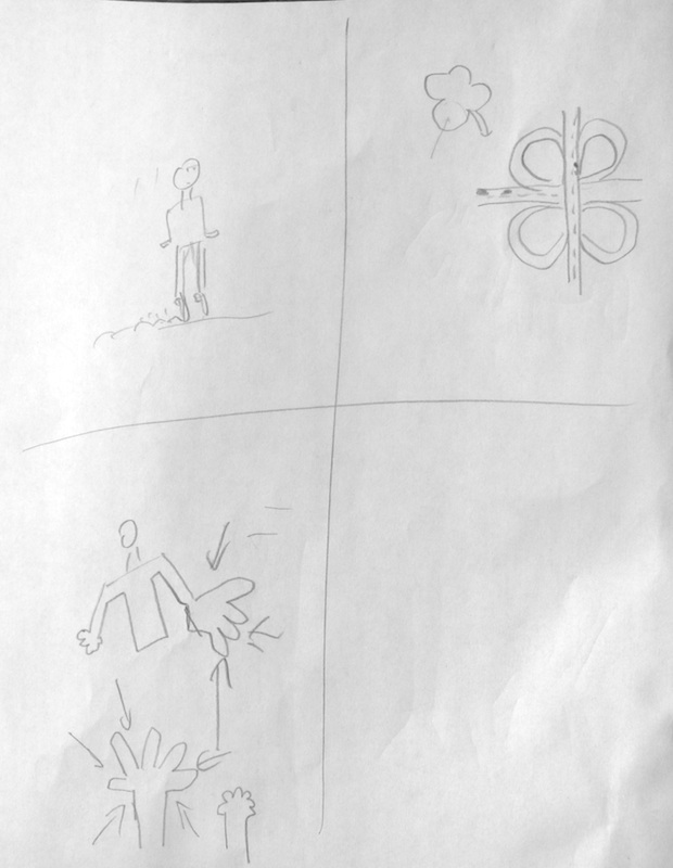 Here are some Pictionary drawings by Michael.   Can you guess what they are?