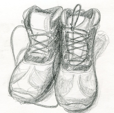 These are my dad's boots.  He passed away on August 24, 2012.