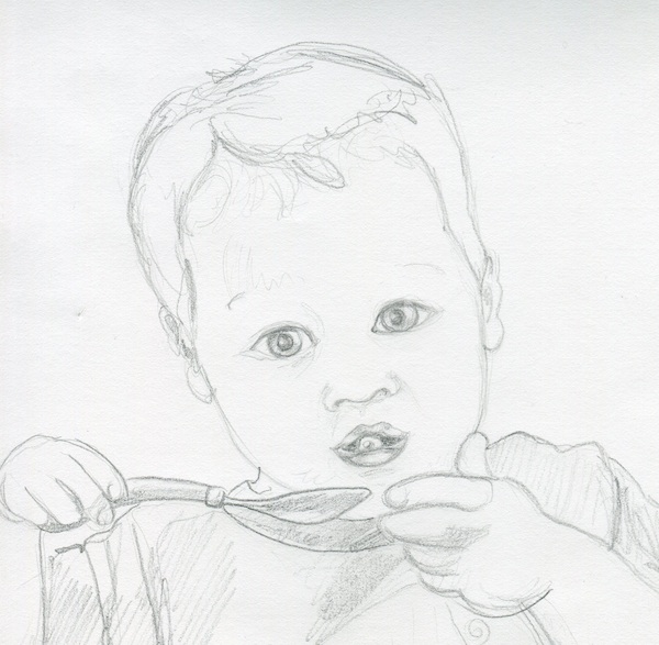 I have the hardest time drawing this little one right. Some day, I hope, I'll get it.