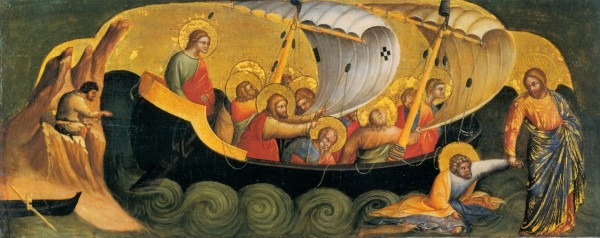 "Lorenzo Veneziano, ""Christ Rescuing Peter from Drowning,"" 1370"